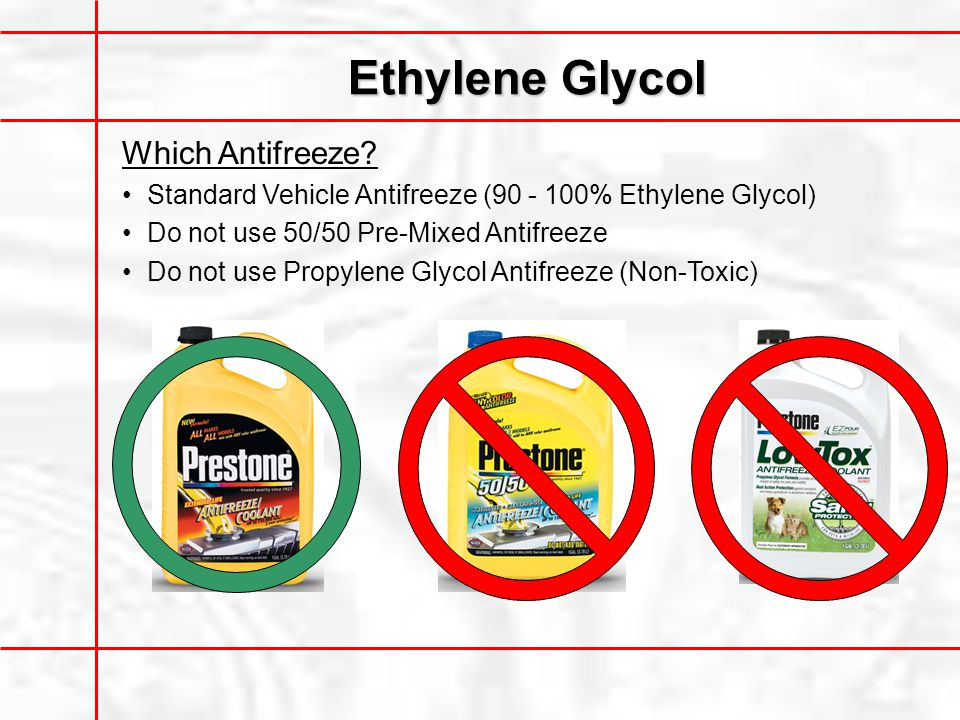 Ethylene Glycol Which Antifreeze