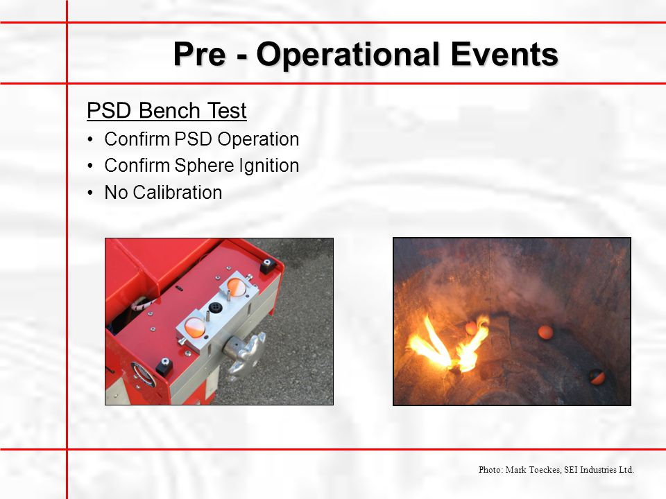 Pre - Operational Events