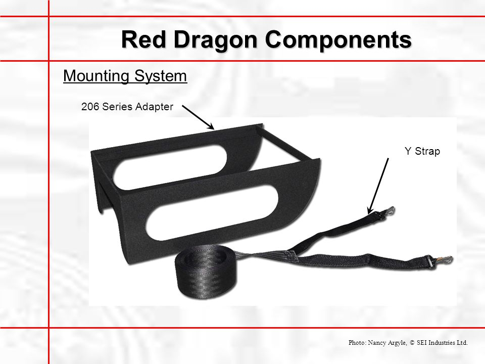 Red Dragon Components Mounting System 206 Series Adapter Y Strap
