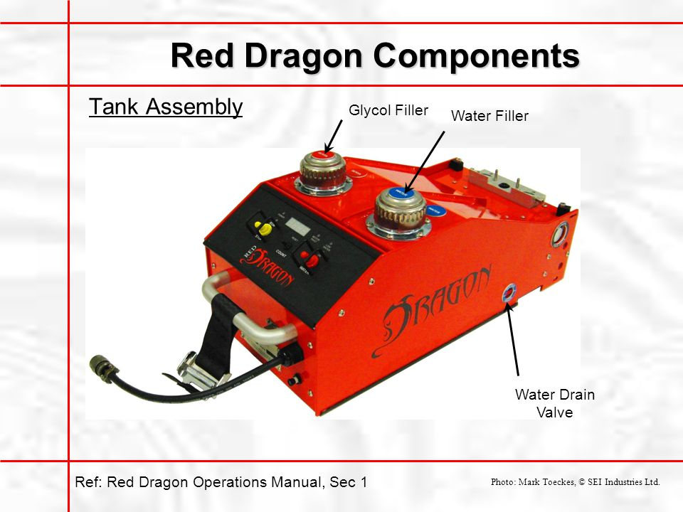 Red Dragon Components Tank Assembly Glycol Filler Water Filler