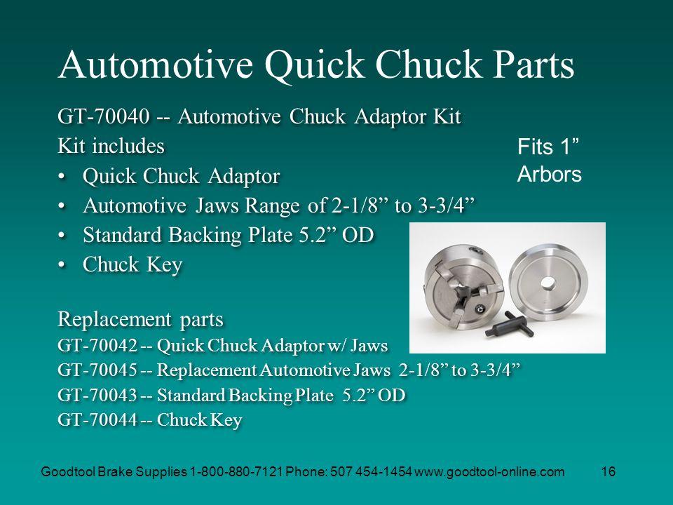Automotive Quick Chuck Parts
