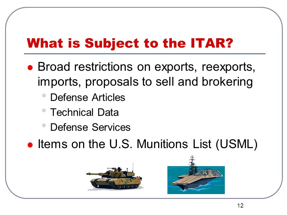 What is Subject to the ITAR