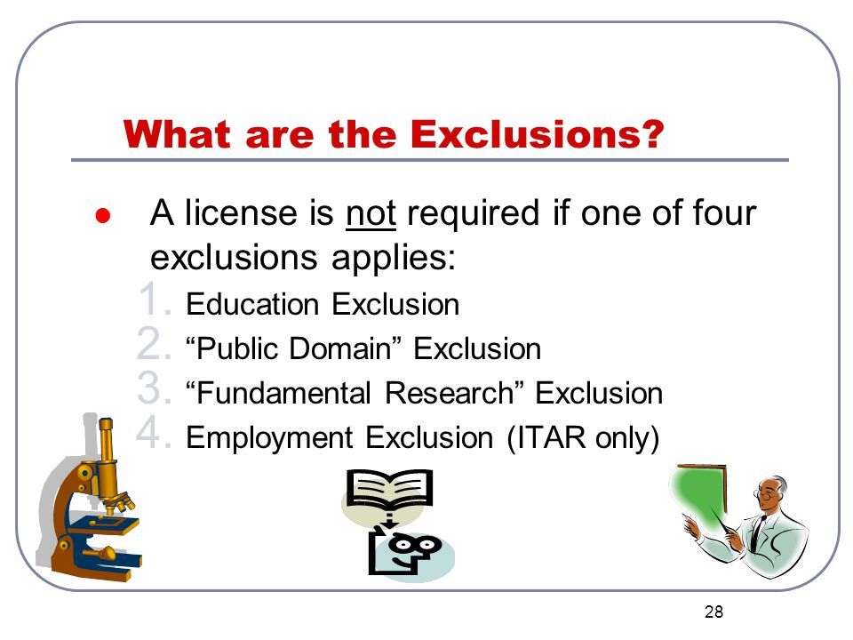 What are the Exclusions