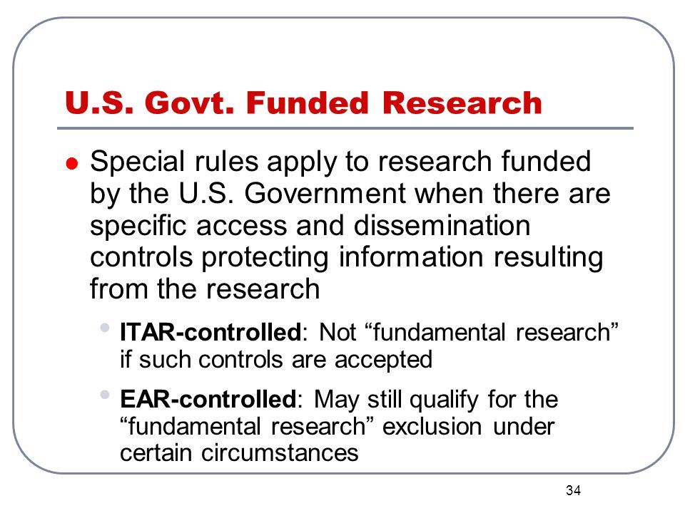 U.S. Govt. Funded Research