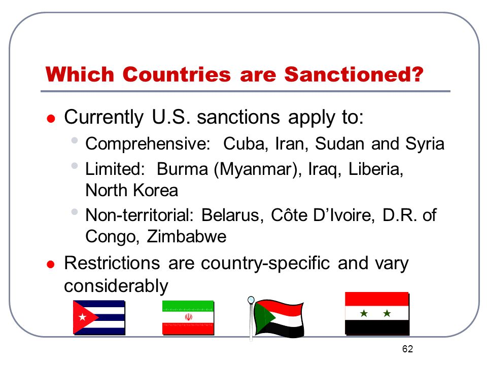 Which Countries are Sanctioned