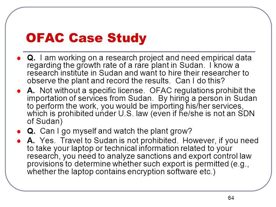 OFAC Case Study