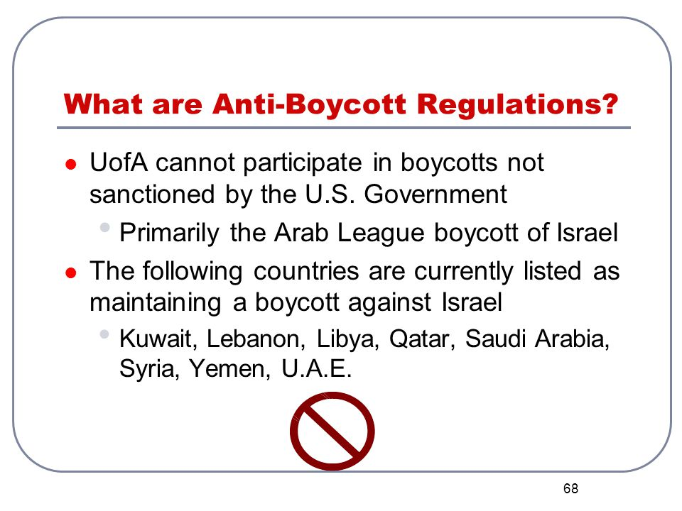 What are Anti-Boycott Regulations