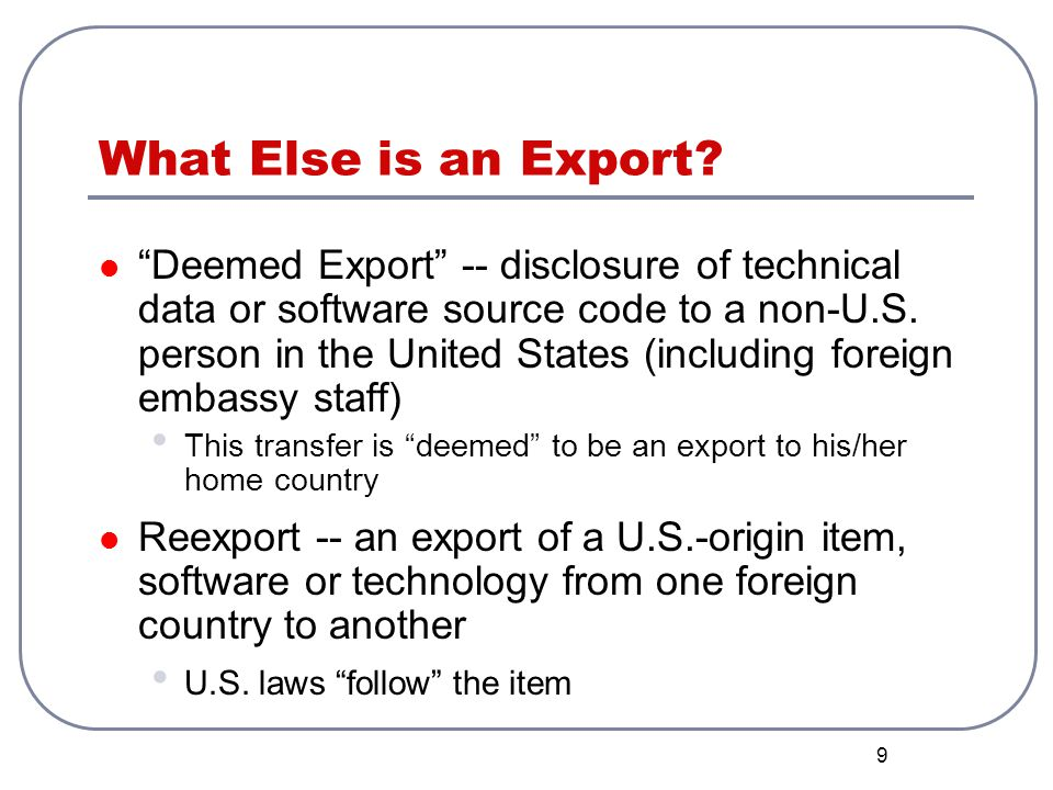 What Else is an Export