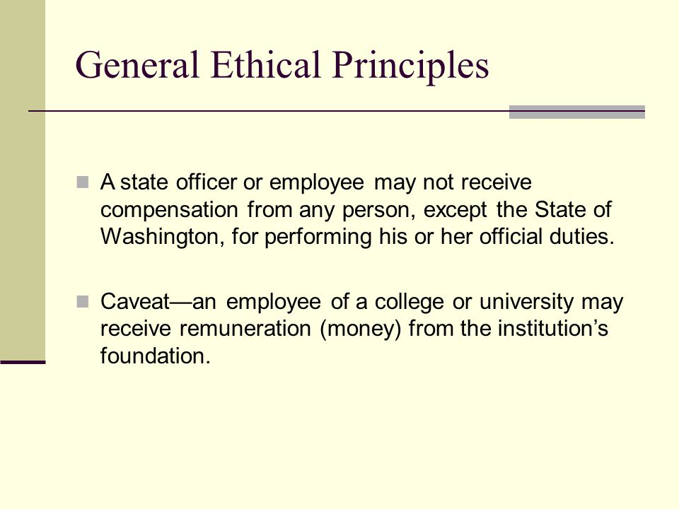General Ethical Principles