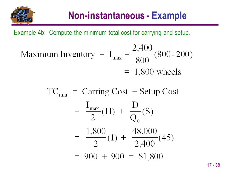 Non-instantaneous - Example