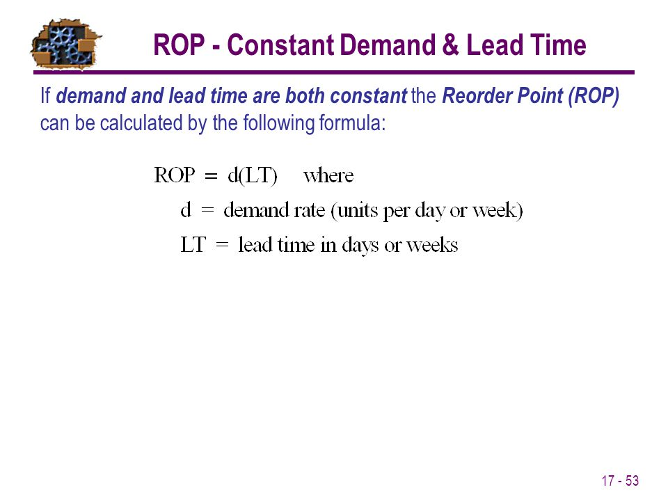 ROP - Constant Demand & Lead Time