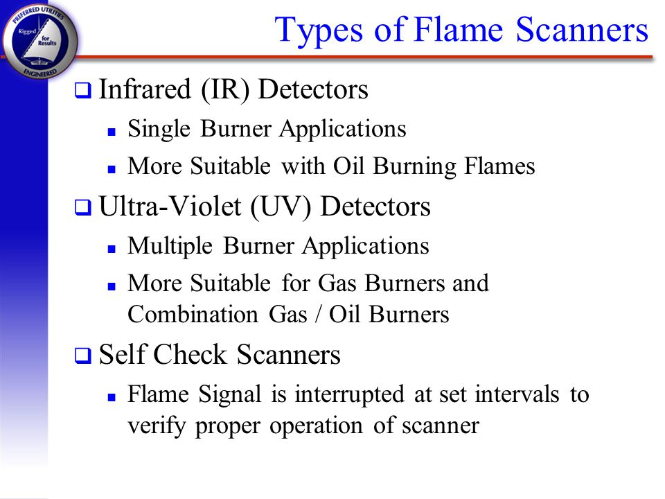 Types of Flame Scanners