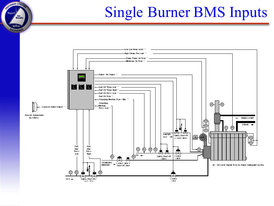 Single Burner BMS Inputs