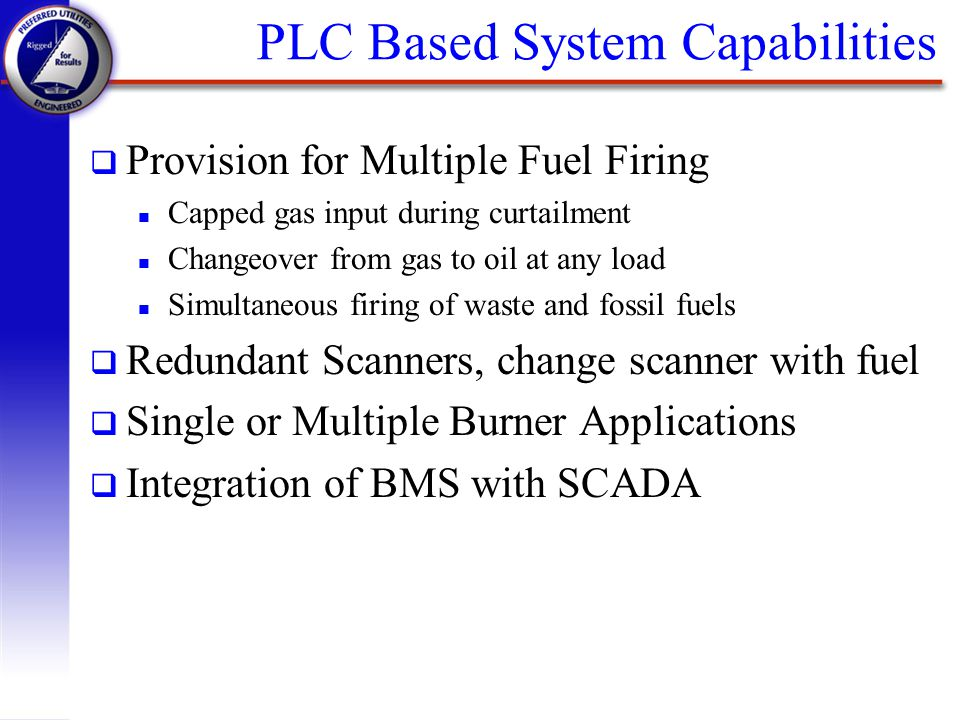 PLC Based System Capabilities