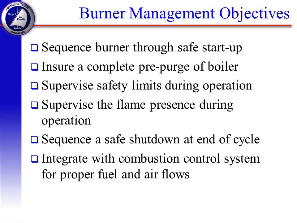 Burner Management Objectives