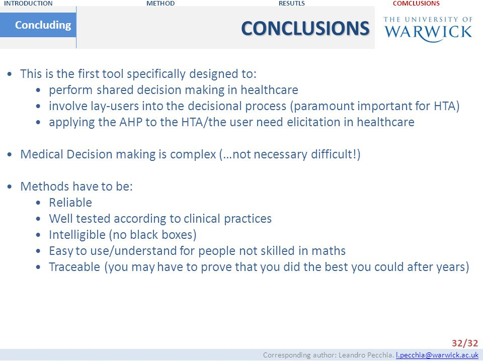 CONCLUSIONS This is the first tool specifically designed to: