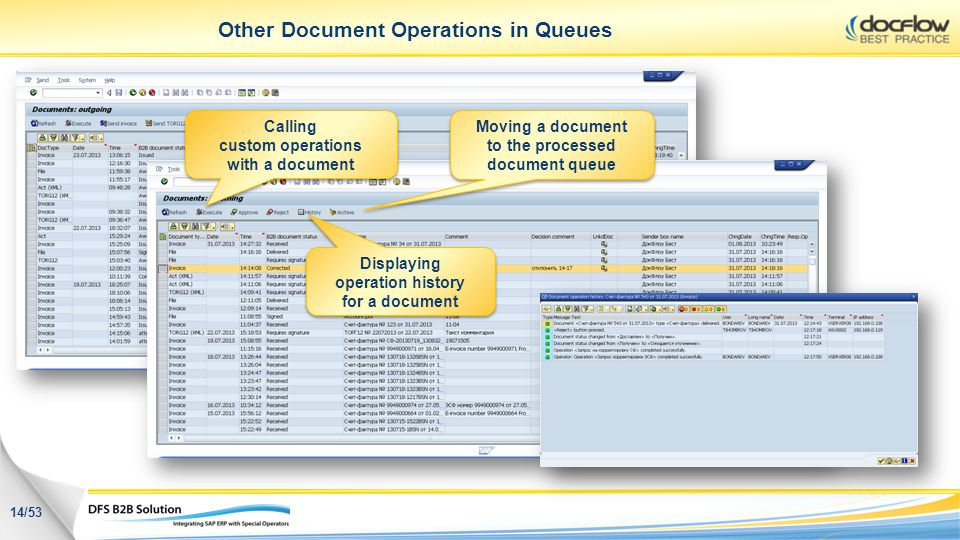 Other Document Operations in Queues