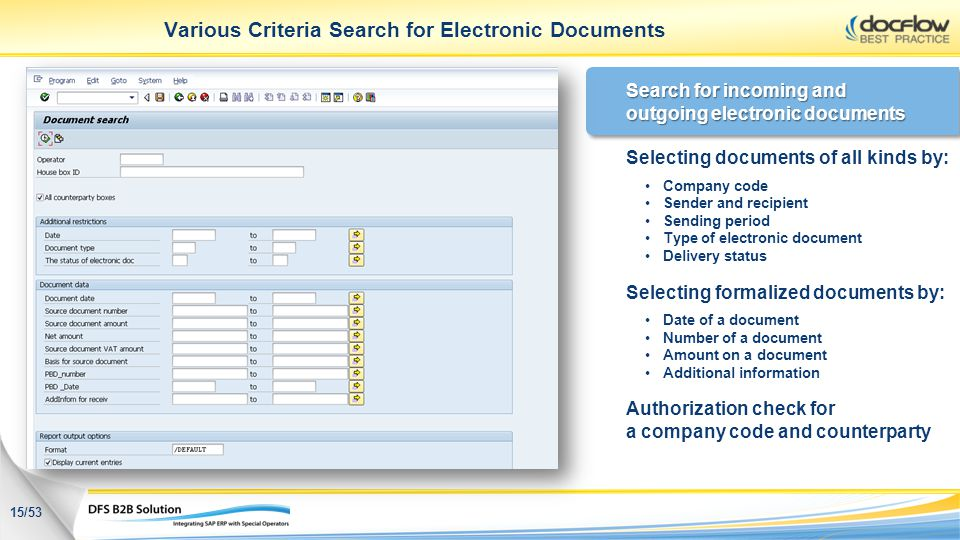 Various Criteria Search for Electronic Documents