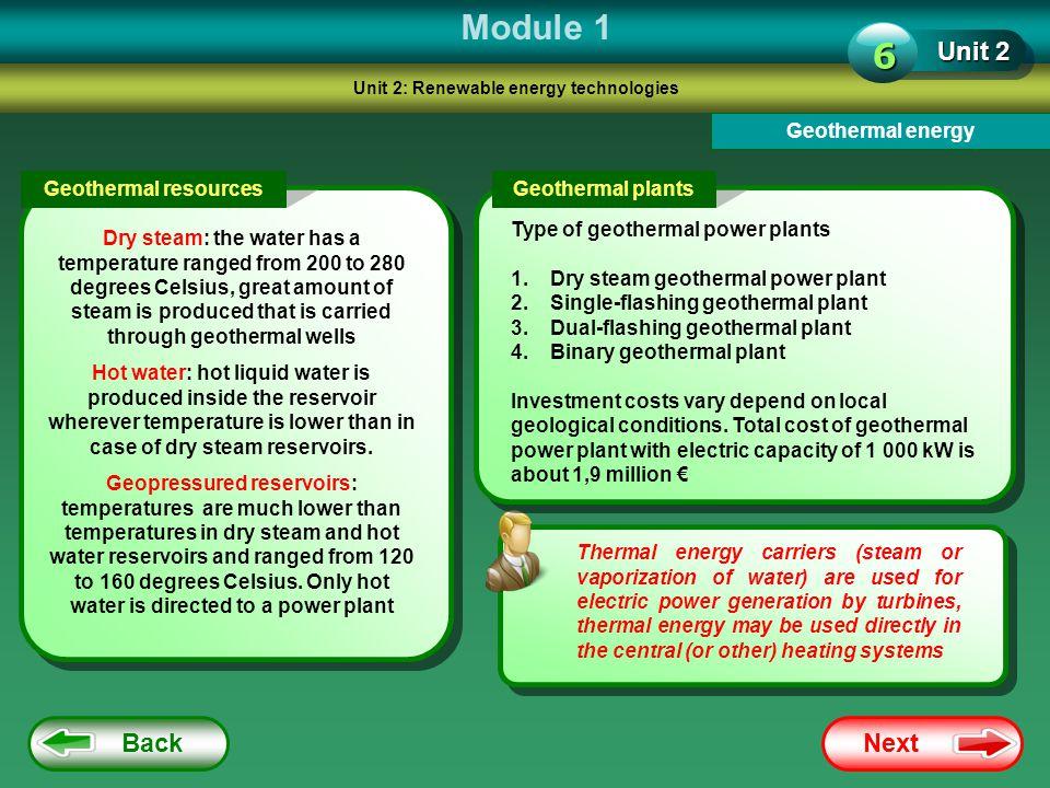 Unit 2: Renewable energy technologies
