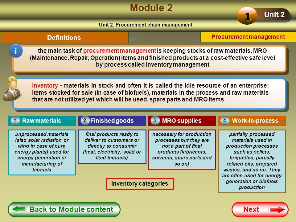 Module 2 1 i Unit 2 Back to Module content Next Definitions