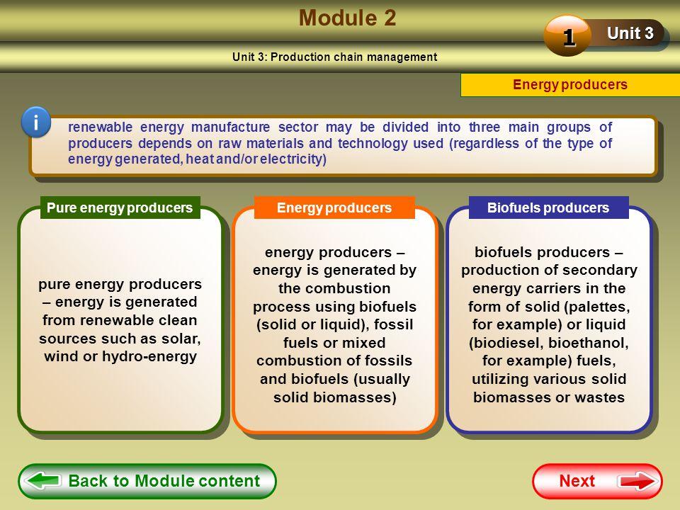 Unit 3: Production chain management