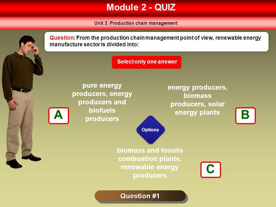 Module 2 - QUIZ Unit 3: Production chain management.