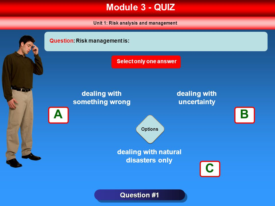 A B C Module 3 - QUIZ dealing with something wrong