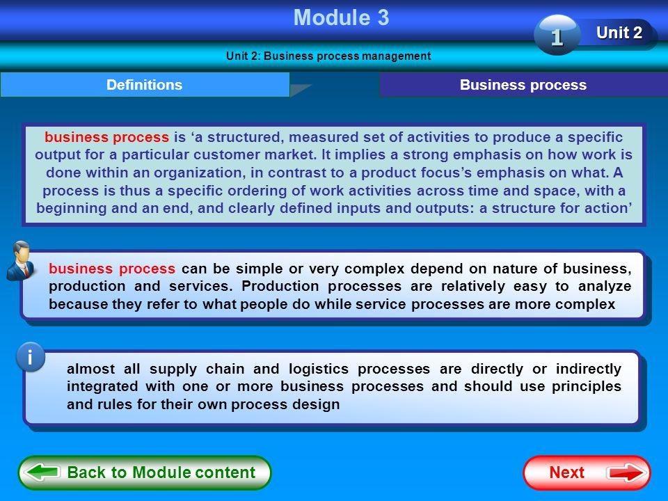 Unit 2: Business process management