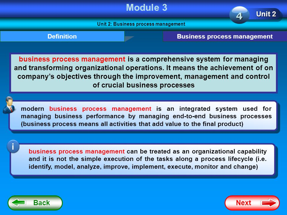 Unit 2: Business process management Business process management