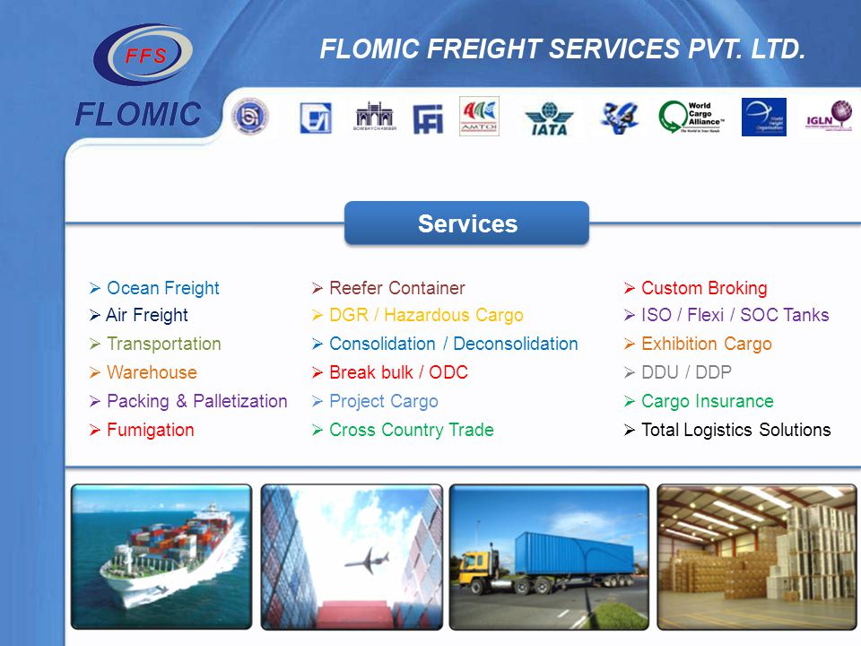 Services Ocean Freight Reefer Container Custom Broking Air Freight