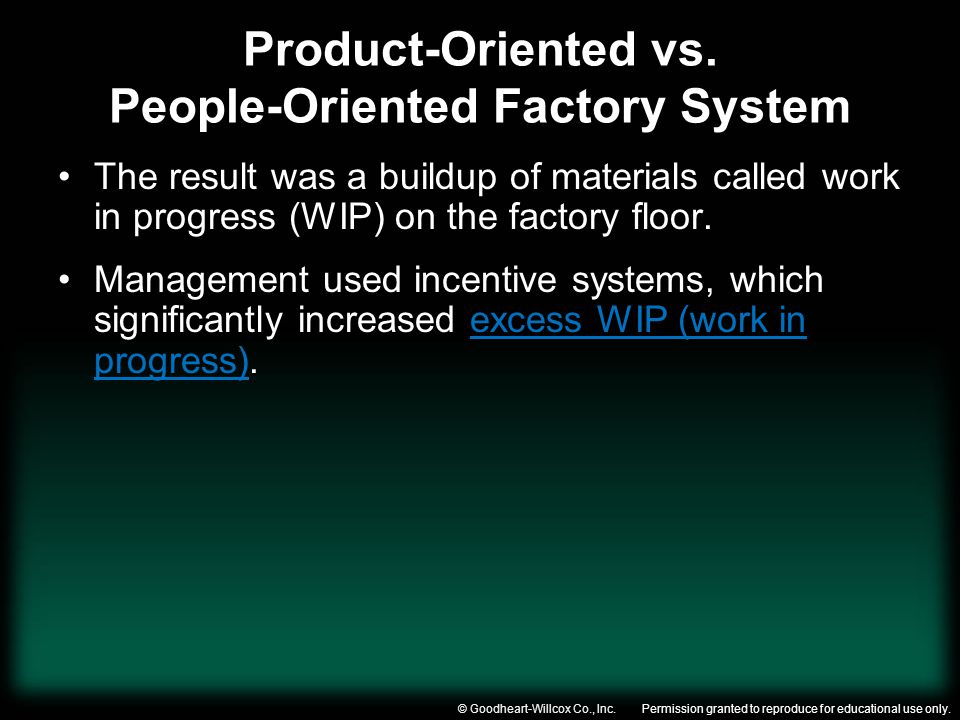 Product-Oriented vs. People-Oriented Factory System