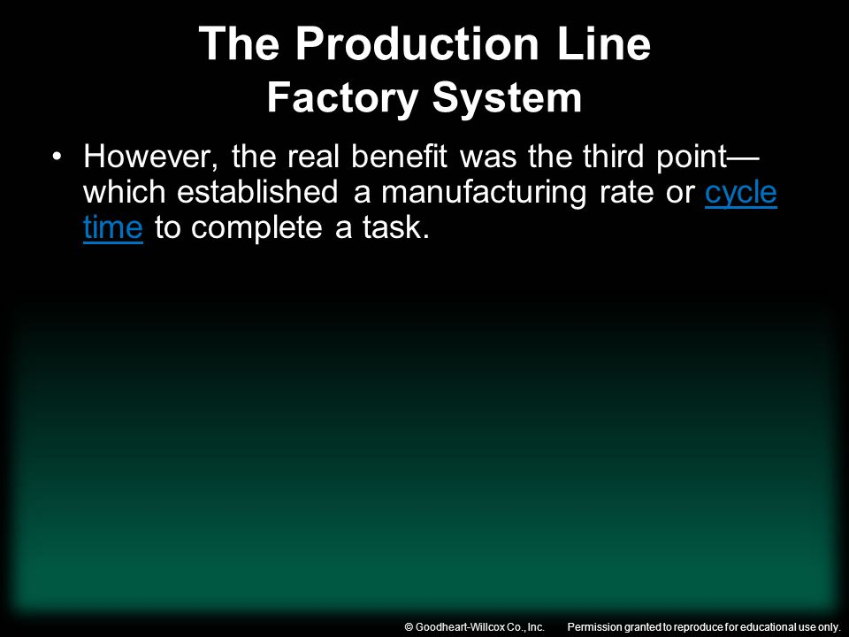 The Production Line Factory System