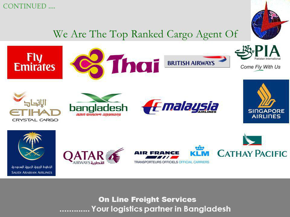We Are The Top Ranked Cargo Agent Of