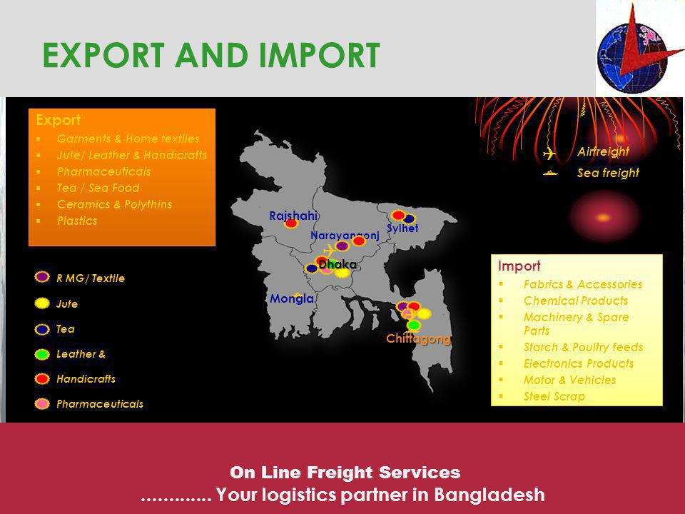 EXPORT AND IMPORT ............. Your logistics partner in Bangladesh 