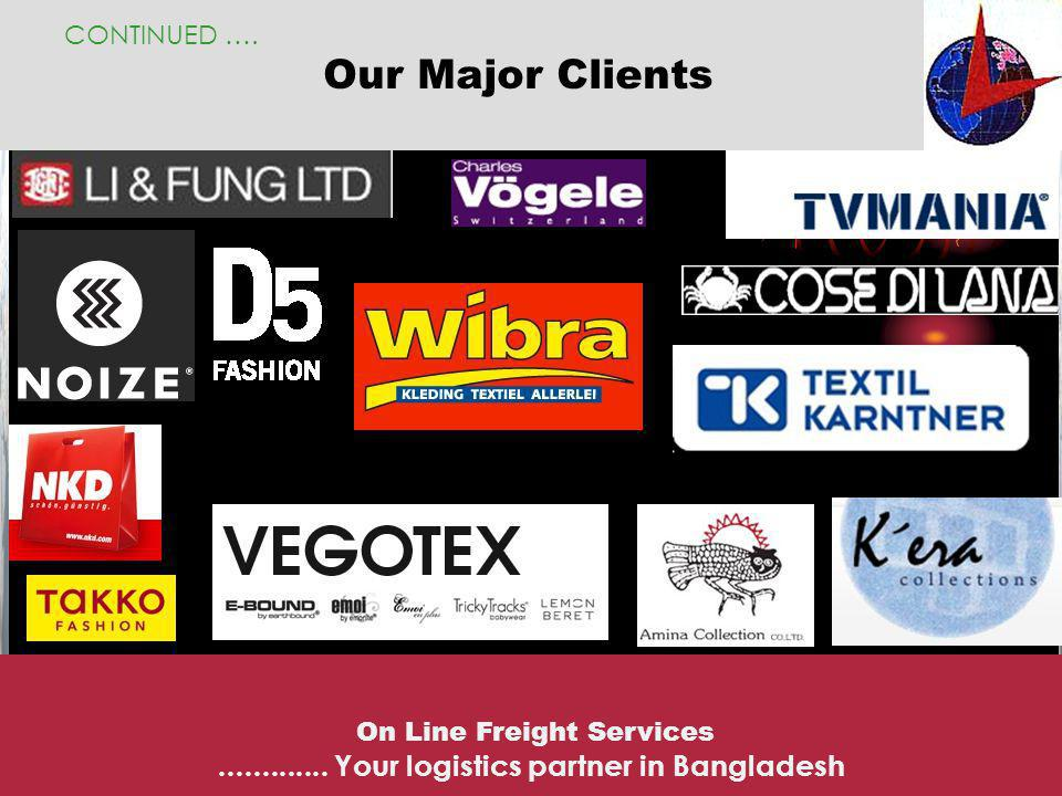 Our Major Clients ............. Your logistics partner in Bangladesh