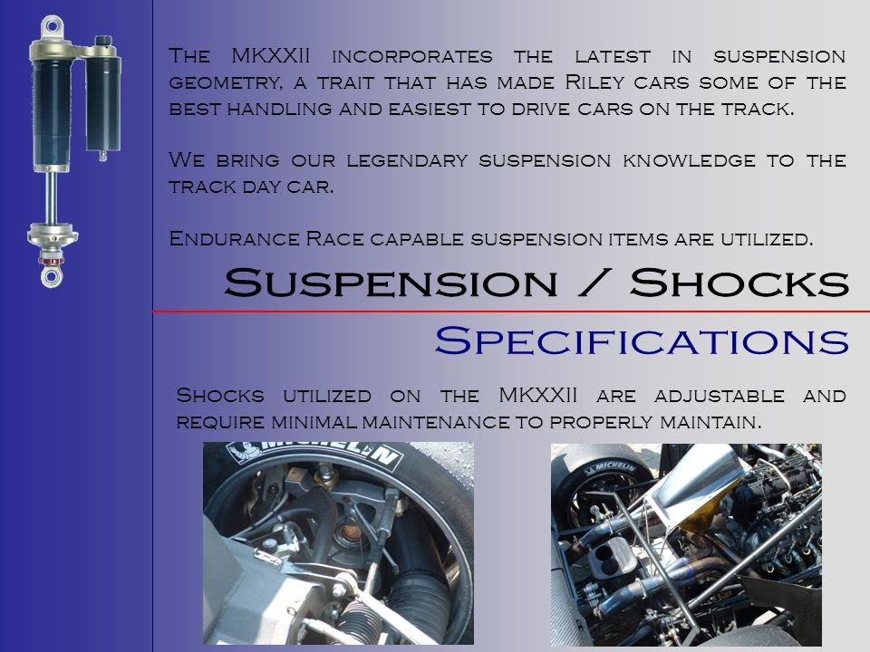 Suspension / Shocks Specifications