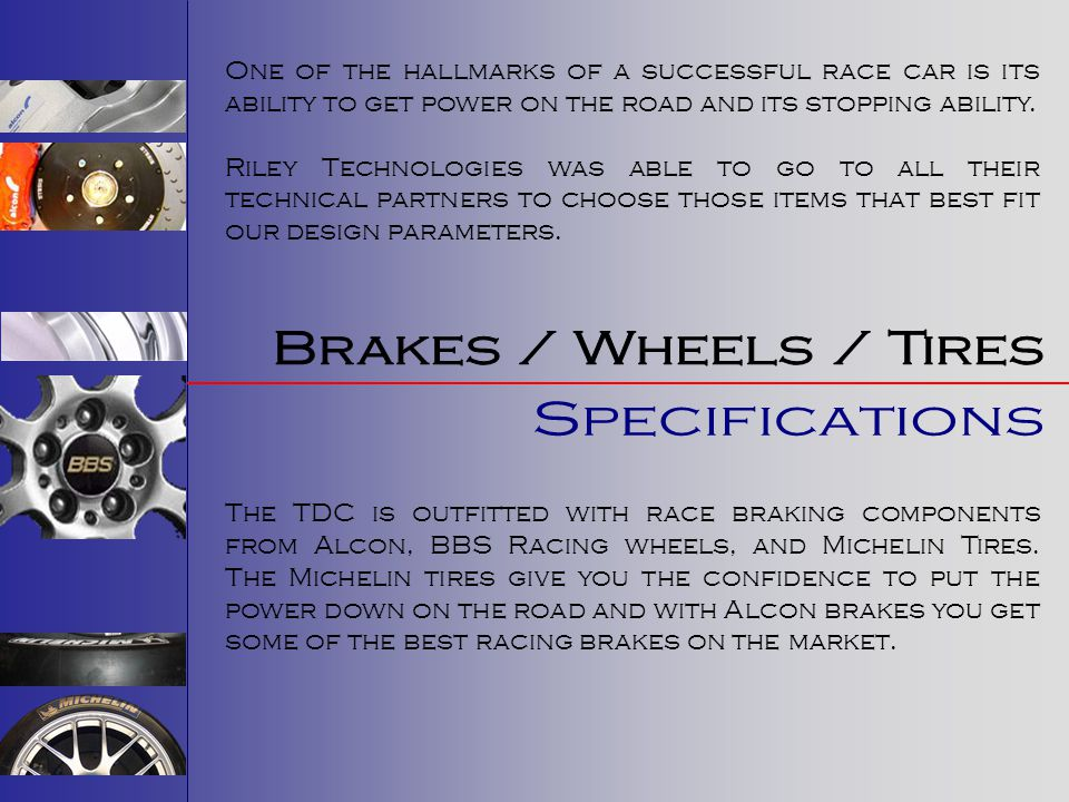 Brakes / Wheels / Tires Specifications