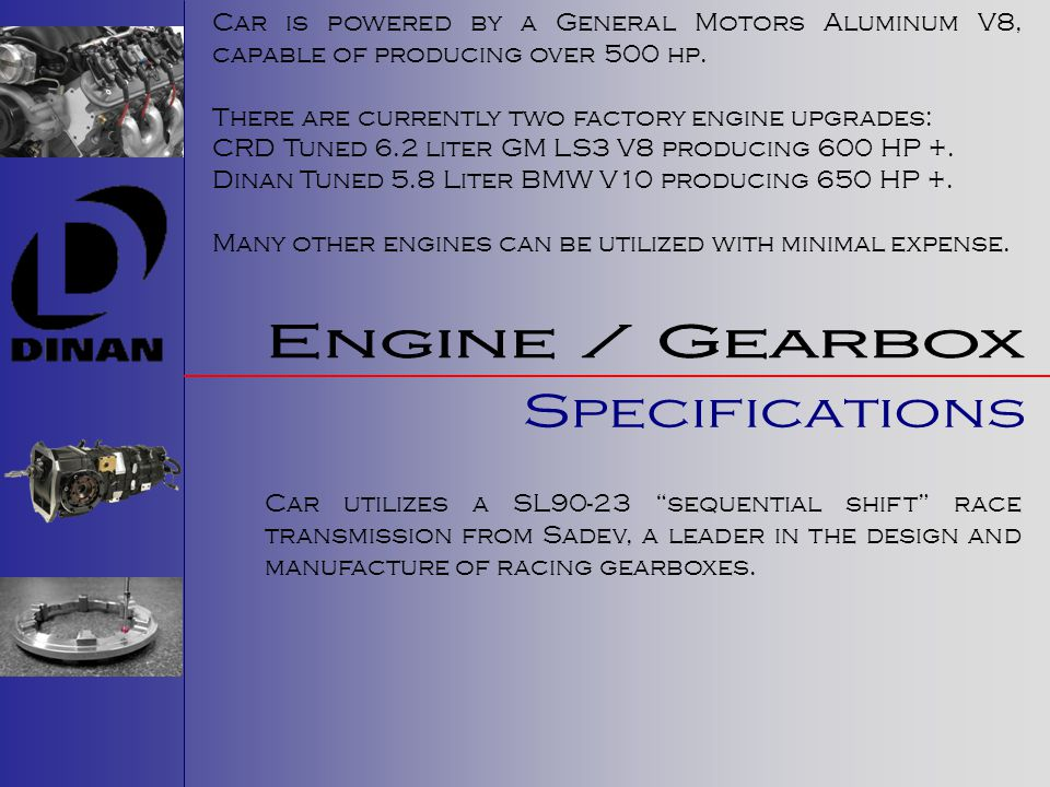 Engine / Gearbox Specifications