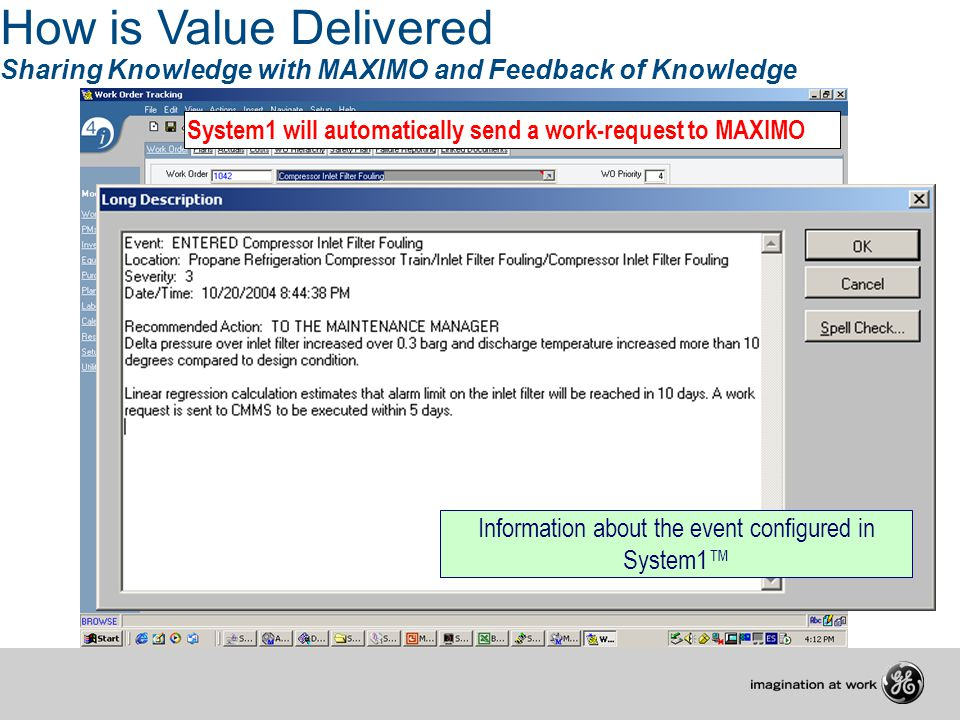 Information about the event configured in System1™