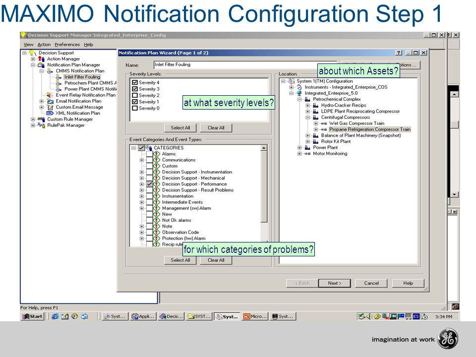 MAXIMO Notification Configuration Step 1