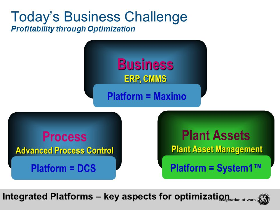 Today's Business Challenge Profitability through Optimization