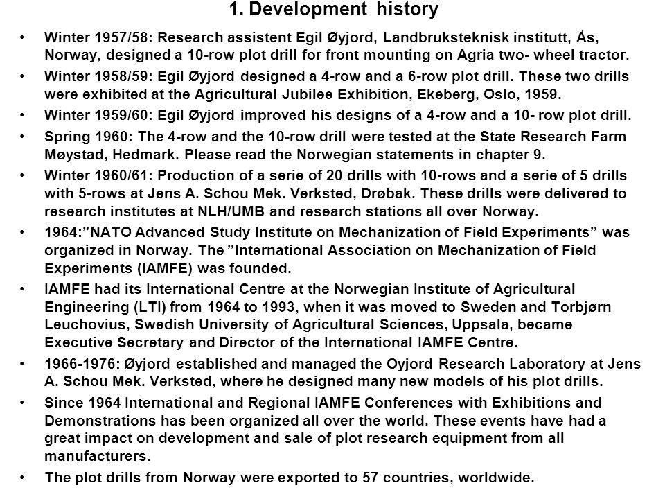 1. Development history