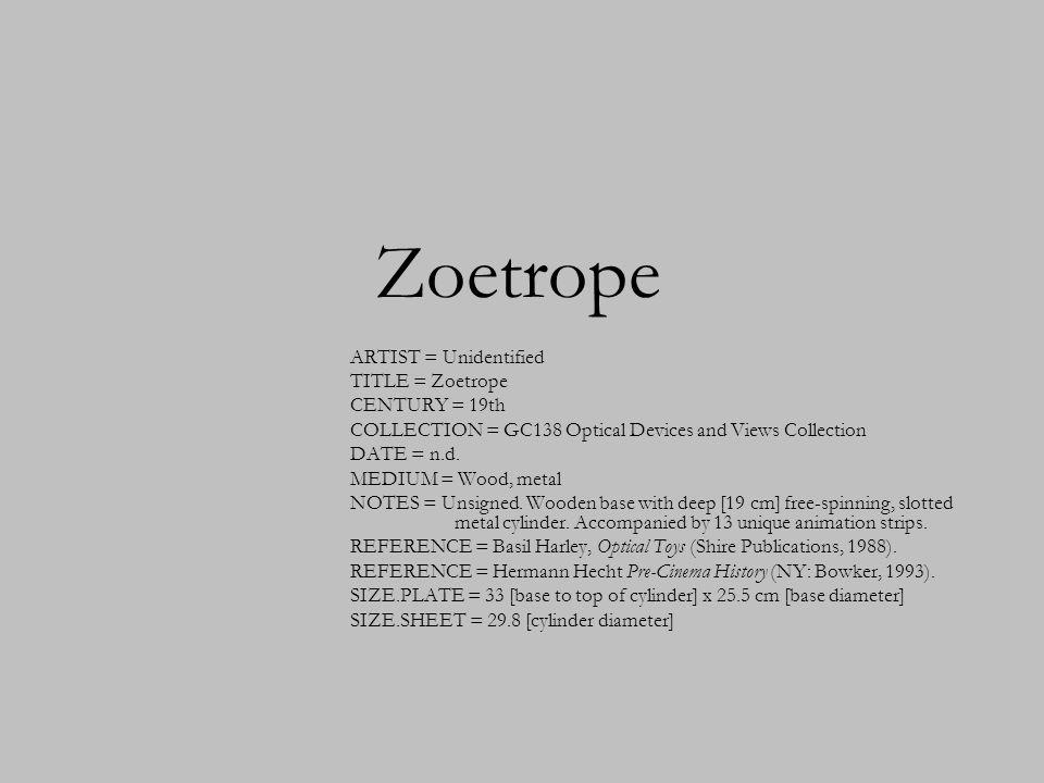 Zoetrope CENTURY = 19th DATE = n.d. MEDIUM = Wood, metal