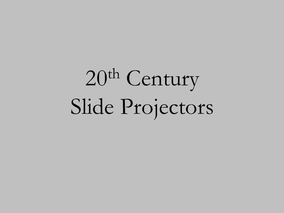 20th Century Slide Projectors