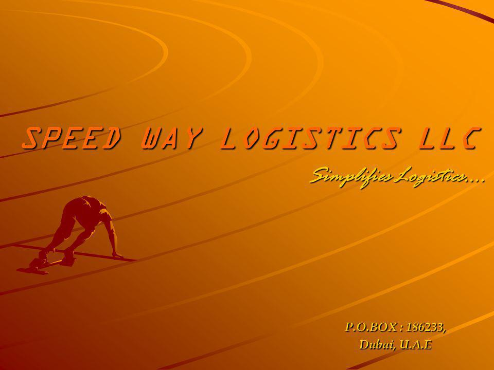 SPEED WAY LOGISTICS LLC