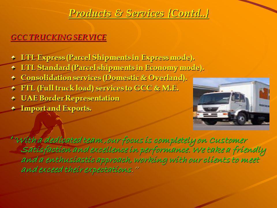 Products & Services {Contd..}