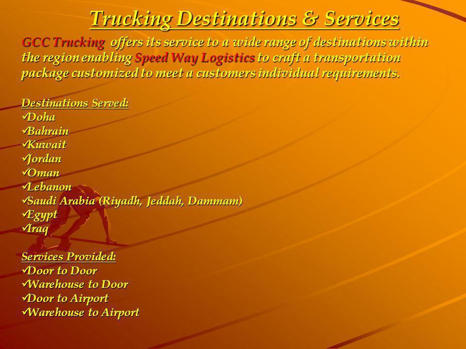 Trucking Destinations & Services