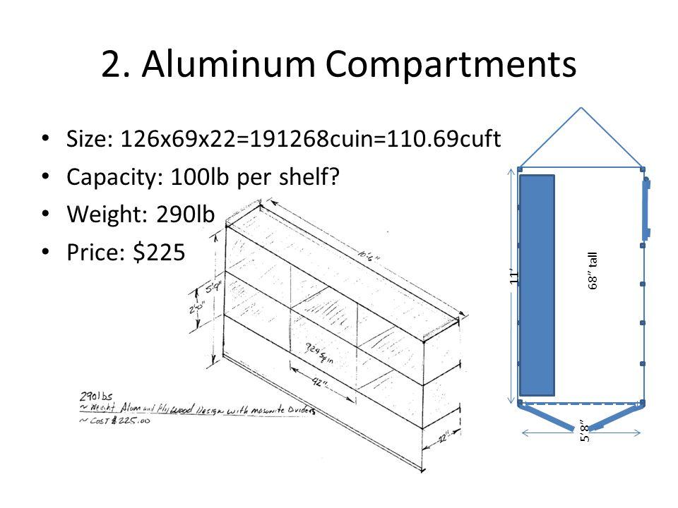 2. Aluminum Compartments