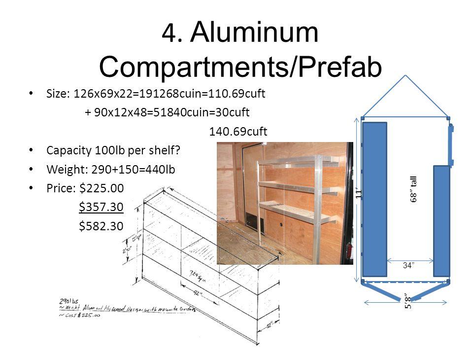 4. Aluminum Compartments/Prefab