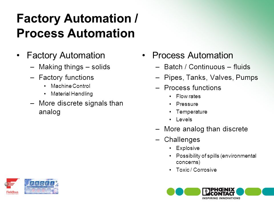 Factory Automation / Process Automation